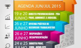 Agenda de Cursos Junho e Julho de 2015