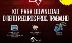 Lançamento: Kit para Download Recursos Processo do Trabalho