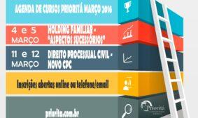 Agenda de Cursos Março 2016
