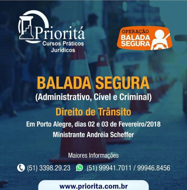 Direito de Trânsito - Balada Segura